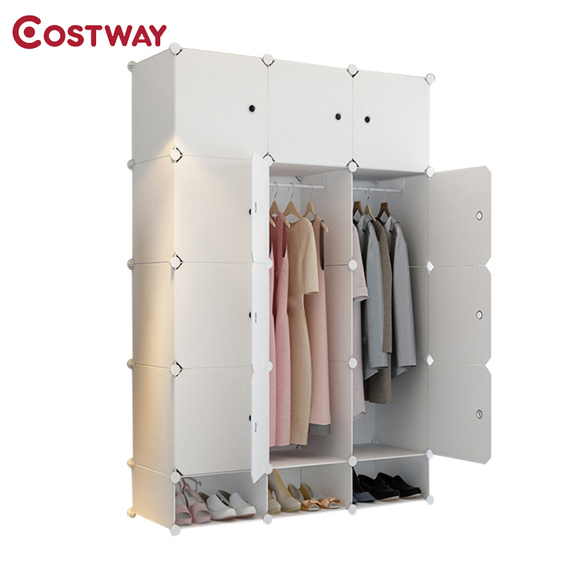 Children Wardrobes Children Furniture Lower Price with New Childrens Cartoon Plastic Assembly Simple Wardrobe Lockers Storage Cabinets Resin Composition Baby For Kit Child Convenient To Cook