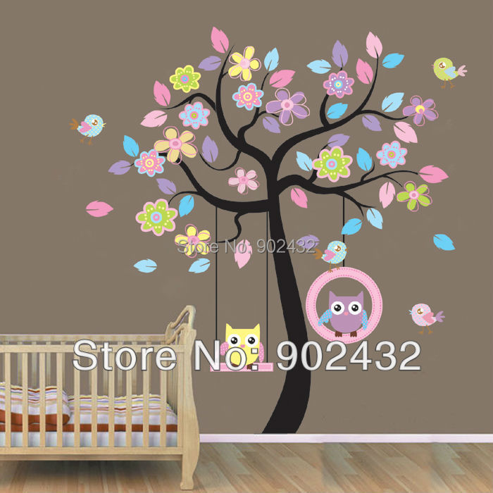 large size vinyl wall sticker 100 pieces / lot mixed designs home