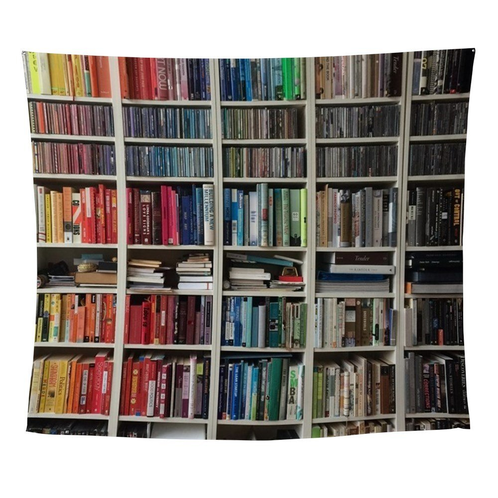 Colorful Library 2 Wall Tapestry for Wall Decoration Fabric Hanging Wall