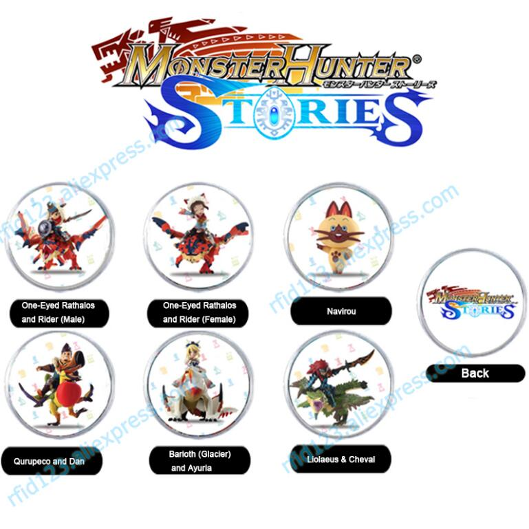 6PCS NFC Amiibo Coin Tag For Monster Hunter Stories