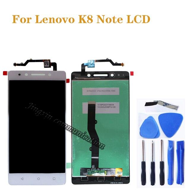 """5.5 """"레노버 k8 참고 lcd + 터치 스크린 디지털 컨버터 구성 요소 레노버 k8 참고 디스플레이 모니터 화면 수리 부품"""