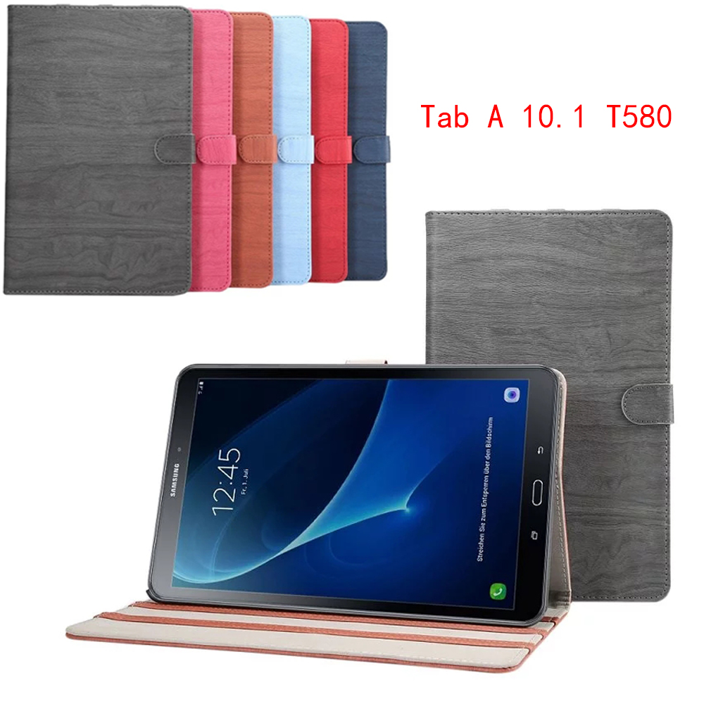 T580 solid wood case for Samsung galaxy tab A 10.1 SM-T580 SM-T585 10.1 tablet cover case +screen protector film+stylus