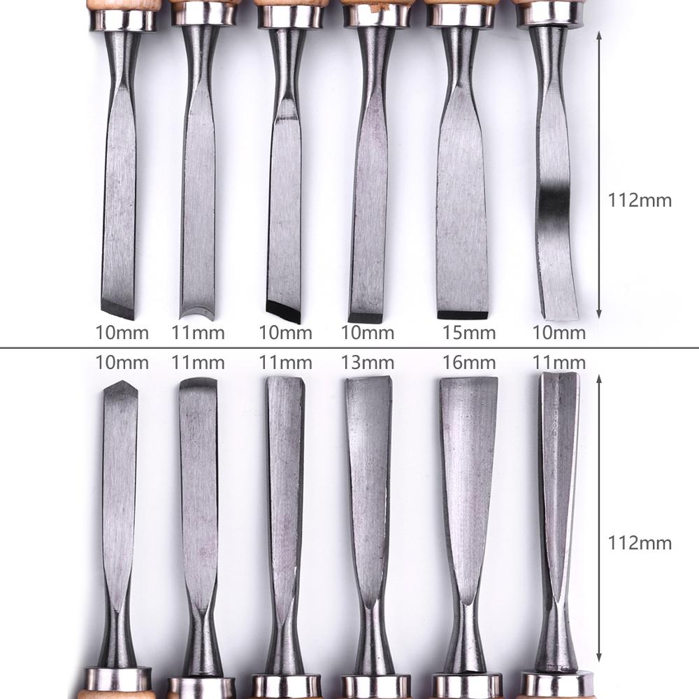 Atoplee Professional 12Pcs Set Scalpello per intaglio del legno - Utensili manuali - Fotografia 6