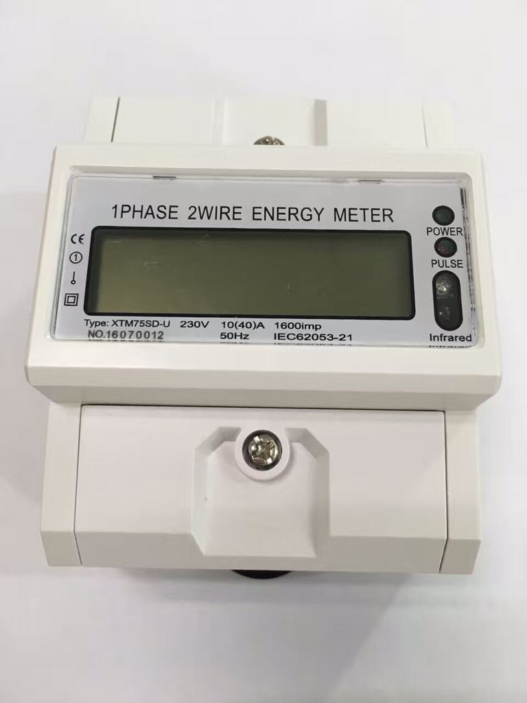 Three phase Din Rail energy meter Current Voltage Power Meter Wattmetter Ammeter Voltmeter Electronic LCD backlight display