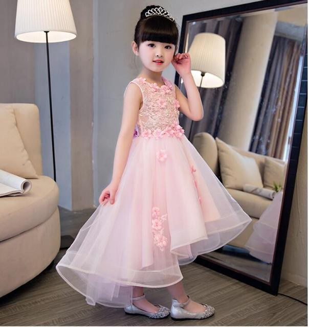 98b0b162115c 1-12T Pink Kids Girls Flower Dress Baby Girl Butterfly Birthday Party  Dresses Children Fancy Princess Ball Gown Wedding Clothes