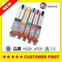5PCS For PGI470 PGI 470 CLI 471 BK C M Y Refillable Ink Cartridges For Canon
