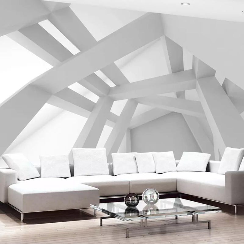 Photo Wallpaper 3D Geometric Pattern Creative Building Murals Wall Paper Living Room TV Sofa Background Wall Painting Home Decor