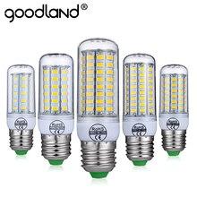 Goodland E27 LED Lamp E14 LED Bulb Smart  IC 220V 240V Corn Light No Flicker 24 36 48 56 69 81 89LEDs SMD 5730 Chandelier Light