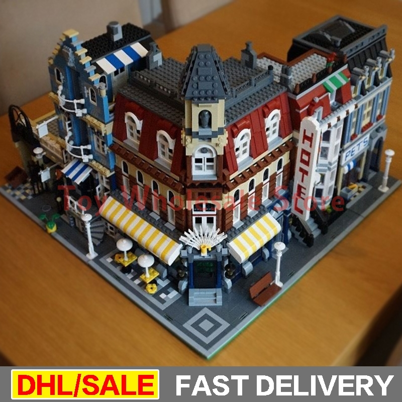 Lepin 15002 Cafe Corner Lepin 15007 European Market Lepin 15009 Pet Shop Model Building Blocks Bricks Kits legoings Toys 10182 конструктор lepin creators зоомагазин 2082 дет 15009