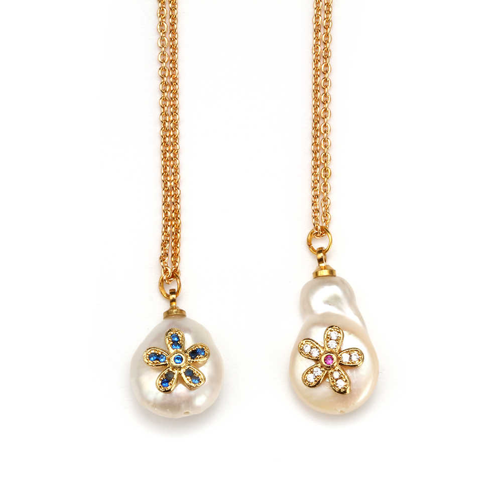 MEIBEADS 1 PC Baroque Pearl จี้สร้อยคอทองคำขาวสร้อยคอ Choker สำหรับ Bijoux ผู้หญิงเครื่องประดับงานแต่งงาน