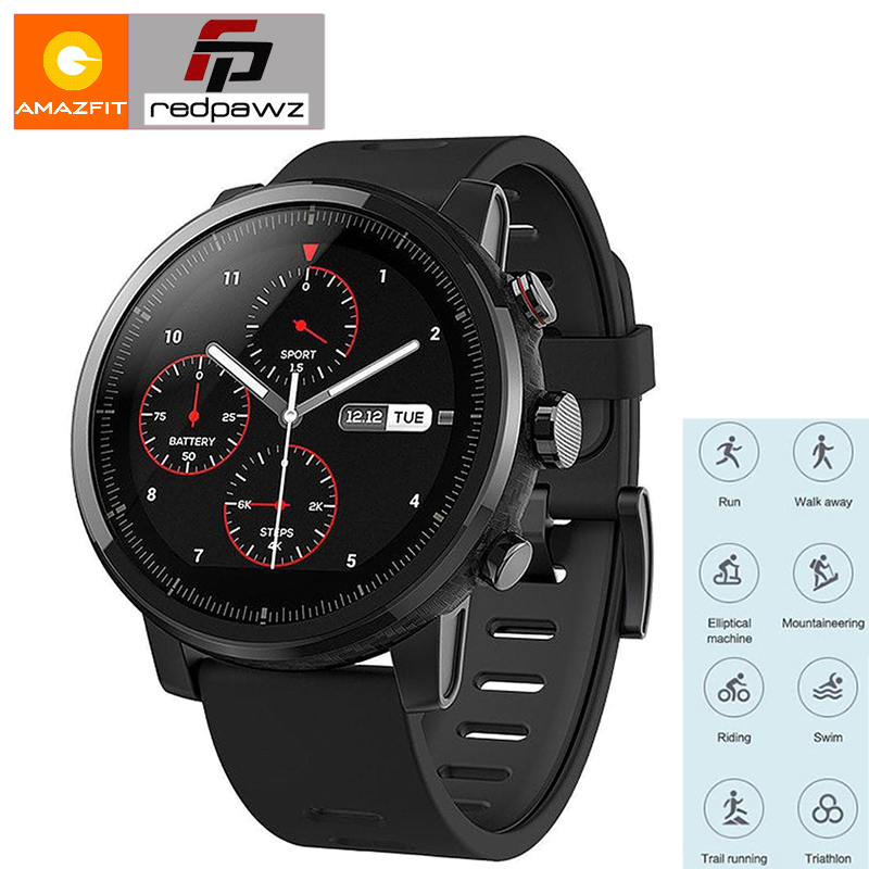 Huami Amazfit Intelligents Sport Montre 2 Santé Tracker GPS 5ATM Étanche 1.34 ''2.5D Écran Tactile GPS Firstbeat Anglais Version