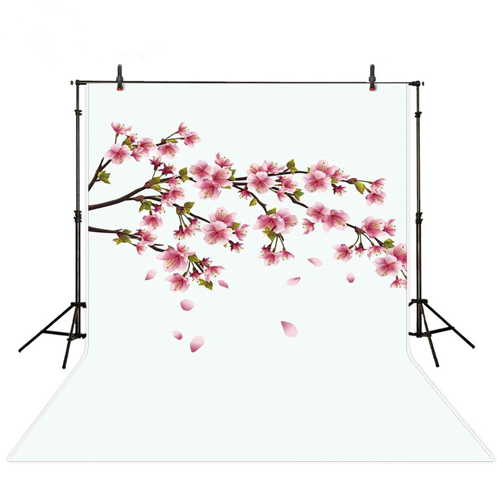 150*200cm white background photography with pink flowers baby photo backdrops digital printed photo background studio cloth 10feet 6 5feet 300cm 200cm fruit plate girl photography backdrops photography background fotos flowers
