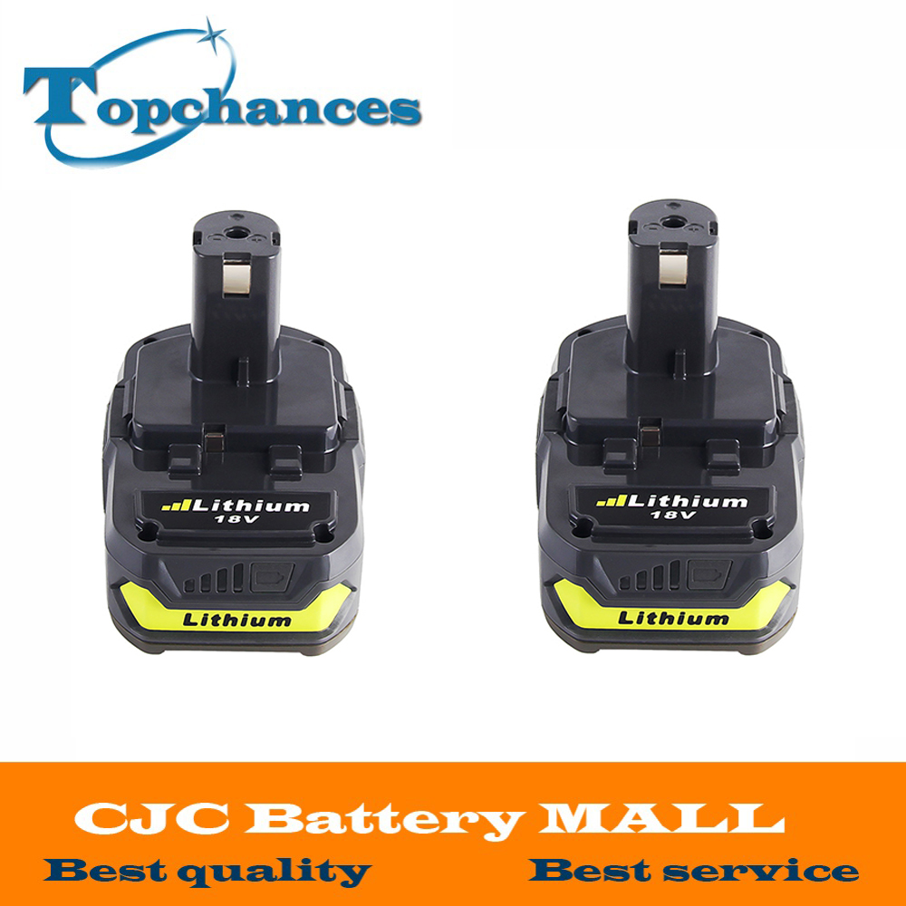 2x 18V 2500mAh Li-Ion Rechargeable Battery For Ryobi RB18L25 One Plus for power tool P103 P104 P105 P108 18v 5000mah li ion battery for ryobi p108 p107 p106 p105 p104 p103 p102 power tool battery high quality