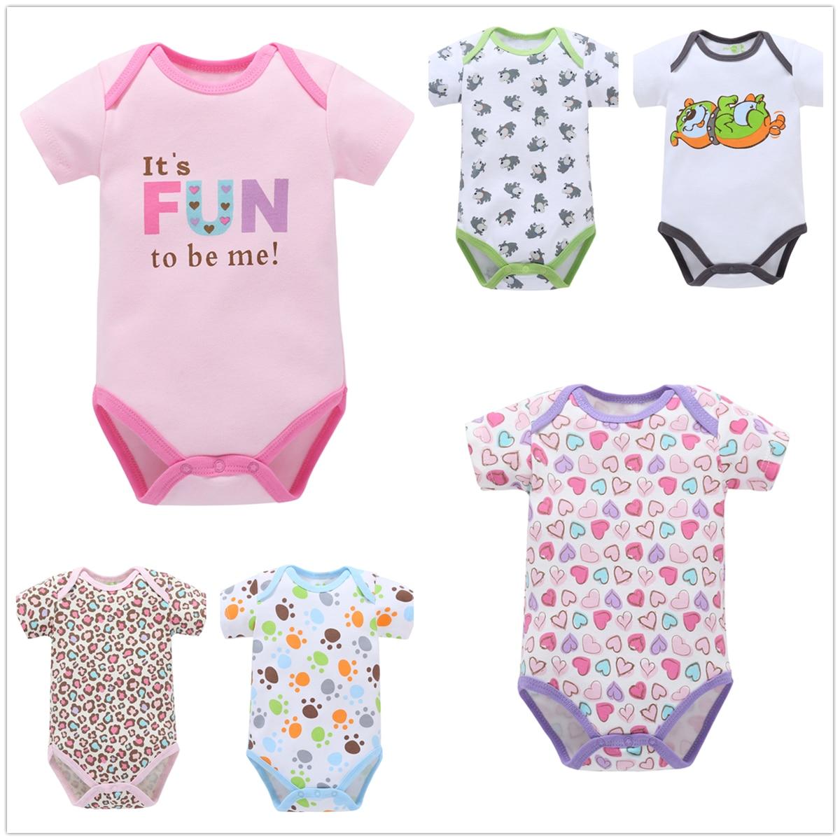 f3973274efa 0-12M Cute Baby Clothes Newborn Baby Rompers Cotton Baby Girl Romper Boy  Newborn Clothes Summer Unisex Jumpsuit Infant Playsuit