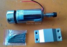 Шпинделя станка чпу мотор шпинделя 52 мм 0.3kw 300 Вт ER11 патрон dc 12-48 В гравировка шпинделя чпу гравировальный станок + зажим