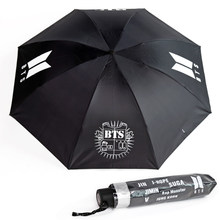Hot sale kpop Fashion harajuku BTS Bangtan boys Jimin Suga Jungkook umbrella(China)