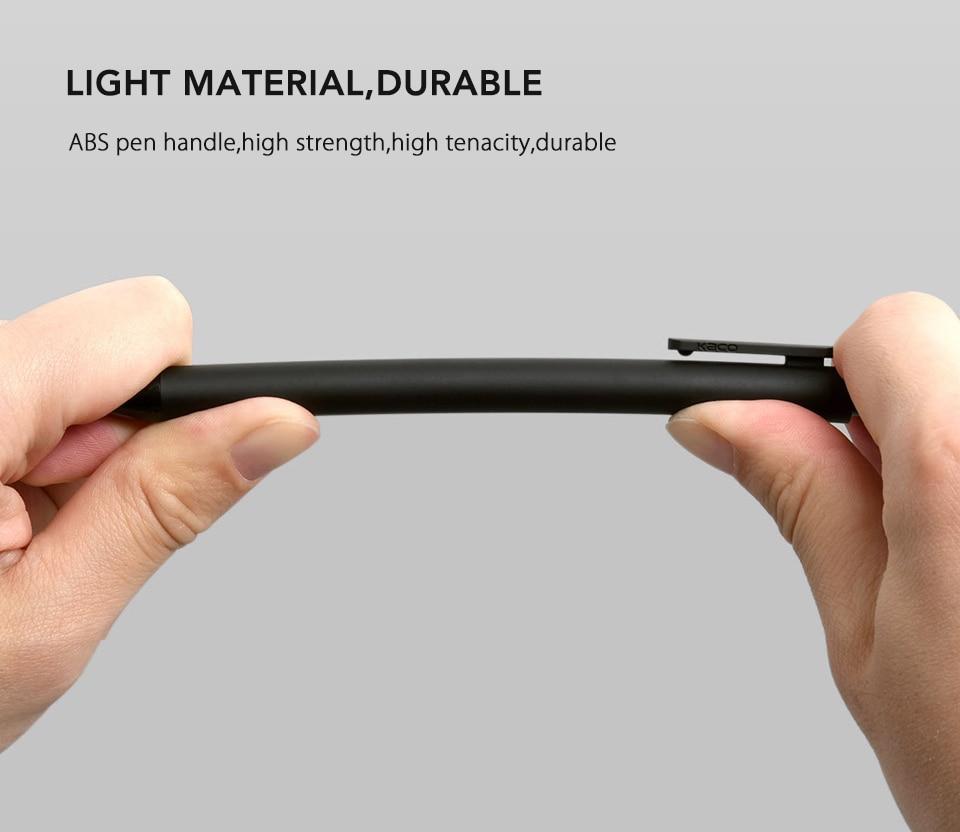 10PcsLot Xiaomi KACO 0.5mm Xiomi Mi Signing P E N Gal Ink Smooth Writing Durable Signing Black Refill (4)