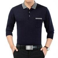 Brand Clothing Men Polo Hombre Shirt Mens Collar Polo Shirts Solid Long Sleeve Polo Shirts Mens