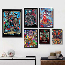 Marvel Movie Avengers Movie Poster Decorative Painting Bar Wall Sticker Home Decoration Good Quality Prints home art Brand(China)