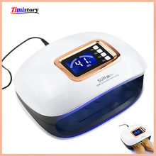 72/54W UV Lamp LED Nail Lamp Nail Dryer For Manicure Machine Curing Nail Gel Polish Auto Sensor Two Hand Lamp Nail Art Tools(China)