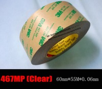 1 Roll 0 06mm Thickness 6cm 60mm 55 Meters Ultra Thin 3M 467MP 200MP Double Sided