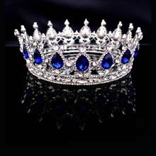 SHOSIXUAN Chaude Conceptions Européennes Vintage Paon Cristal Diadème De Mariage Couronne Diadème De Mariée Accessoires Strass Diadèmes Couronnes
