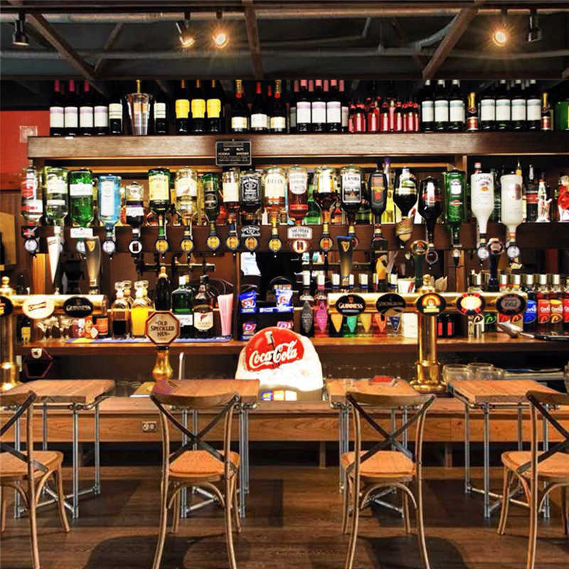 Индивидуальная Настройка ресторанных клубов KTV бар декор обои 3D бутылки вина фото фрески Европейский стиль винтаж обои