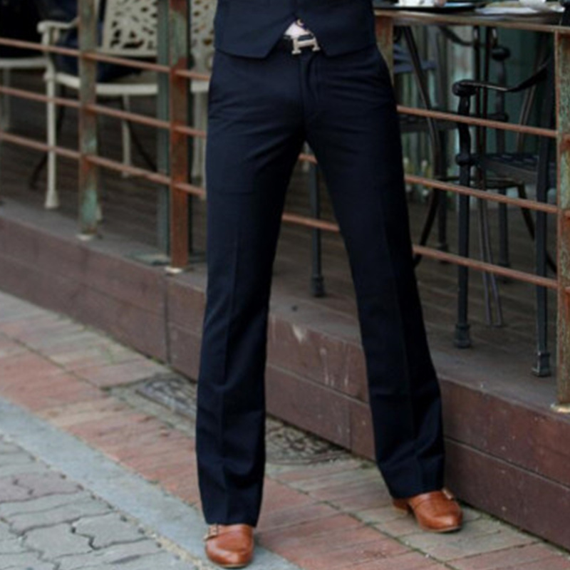 Trousers Pant Boot-Cut-Suit Bell-Bottom Flare Men's New Euro Spring Size-28-37
