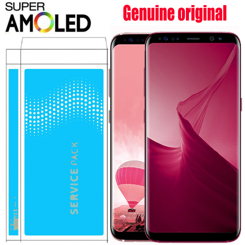 5 8 ORIGINAL S8 LCD with Frame for SAMSUNG Galaxy S8 G950 G950F Display 6 2
