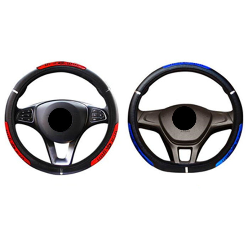 DONYUMMYJO Drangon Design Leather Auto Car Steering Wheel Cover 36-38CM Universal D Style Round Anti-catch Holder Protector недорого