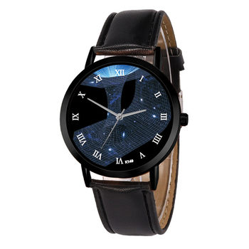Different Space Watch Casual Quartz Leather Strap Astronomy Planets Unisex Classy Creative Analog Watches Montre Femme