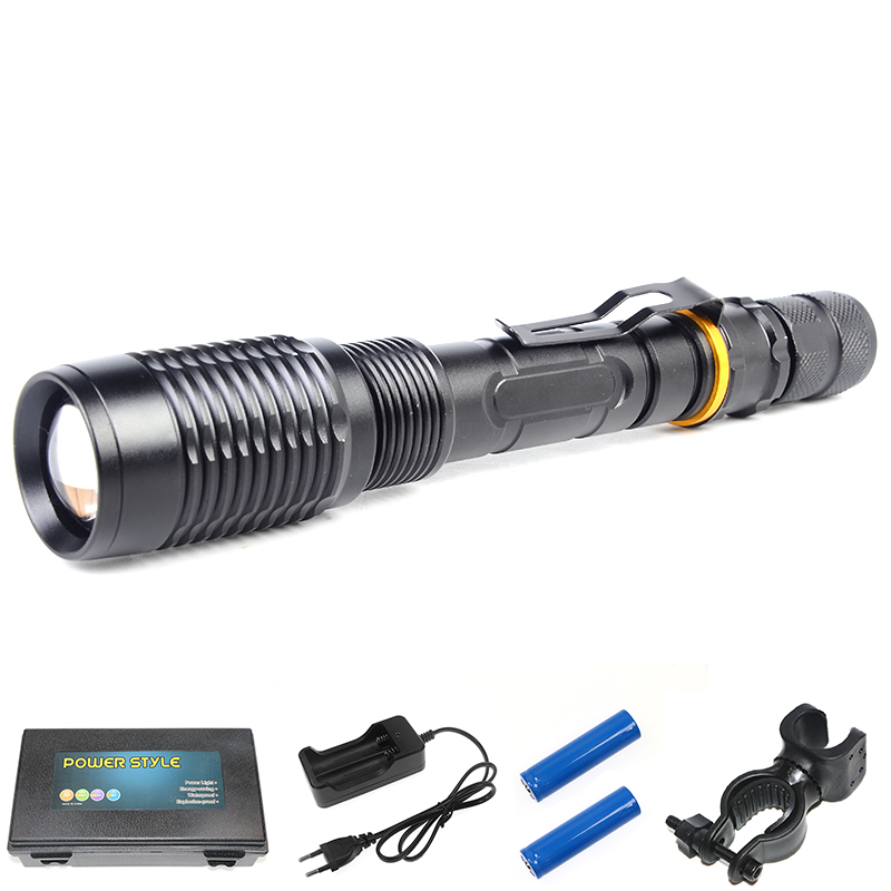 5000 Lumens Powerful LED Torch Tactical LED Flashlight XML T6 5 Modes Torch Light Zaklamp Lantern 18650 Rechargeable Zoom Light 3800lm torch cree t6 5 modes led tactical flashlight torch waterproof hunting light lantern zaklamp taschenlampe torcia zk50