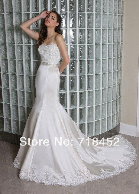 2014 Italian Wedding Dresses with Lace A Line Vestidos De Novia ...