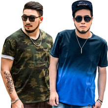 2019 Mens clothing Store Large size 7XL Short-sleeved Printed T-shirt New Loose Summer Shirt