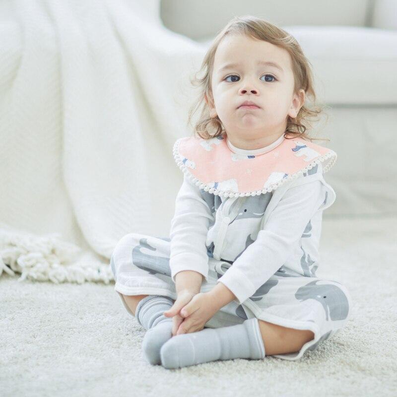 Детские нагрудники мягкий натуральный хлопок детские вещи для новорожденных нагрудник милый рисунок Водонепроницаемый бандана нагрудник...