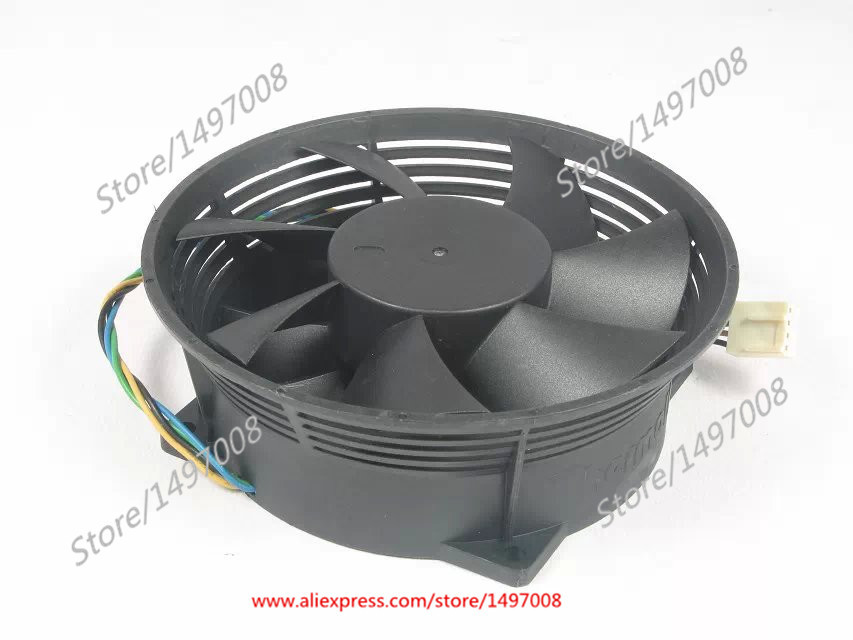 Free Shipping Emacro EVERFLOW  F129238SL  DC 12V 0.50AMP 4-wire 4-pin connector 90mm 92x92x38mm Server Round fan free shipping emacro sf7020h12 61as dc 12v 250ma 3 wire 3 pin connector 65mm6 server cooling blower fan