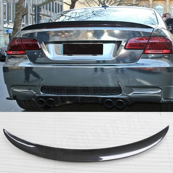 Carbon Fiber Rear Spoiler Boot Wings For BMW 3 Series E92 328i 335i M3 / M Sport Spoiler 2006-2012 FRP P Style Spoiler image