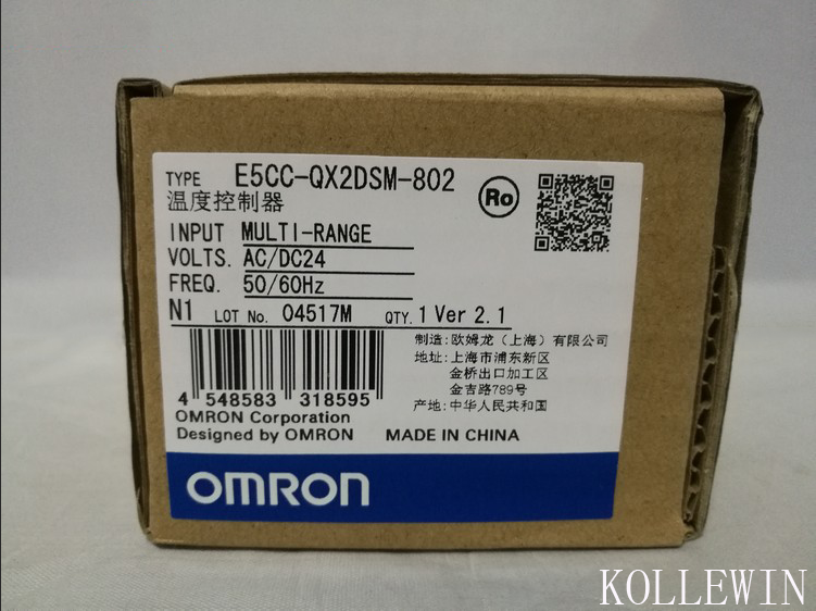 E5CC-QX2DSM-802 OMR Temperature Controller, E5CCQX2DSM802 Sensor NEW in Box, E5CC QX2DSM 802 dtb4848cr delta temperature controller new in box