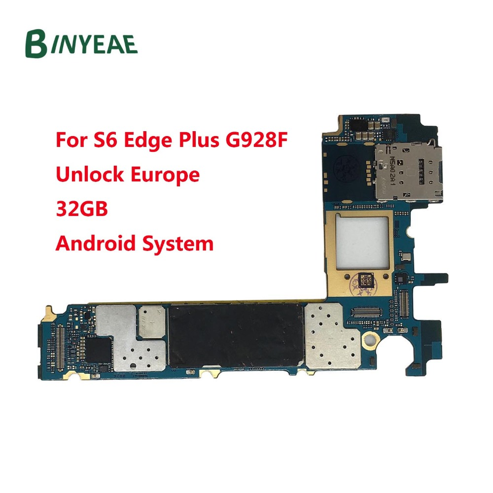 BINYEAE Unlocked Main Motherboard 32GB Replacement For Samsung Galaxy S6 Edge Plus G928F Europe version Unlock
