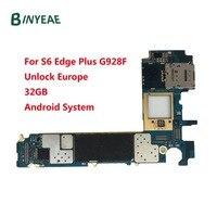 BINYEAE Desbloqueado Motherboard Principal 32GB de Substituição Para Samsung Galaxy S6 Borda Mais G928F Europa versão Unlock 100% Bom trabalho|motherboard unlock|motherboard for galaxyunlock motherboard -