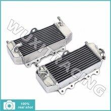 BIKINGBOY Aluminium Core MX Offroad Motor Kühler Wasserkühlung für YAMAHA WRF250 WR 250 F WR250F YZ250 F YZ250F YZF 250 01-06