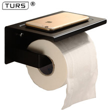 SUS 304 נירוסטה שחור חדר רחצה מחזיק נייר טואלט רול מחזיק גליל נייר מגבת אביזרי אמבטיה מרובעת