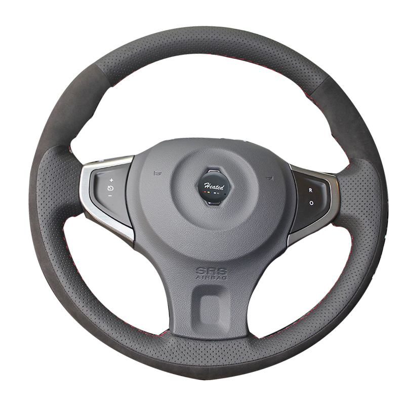 Genuine Leather Car Steering Wheel Cover for Renault Koleos 2009-2014 Samsung QM5 Car Styling Braid on the steering wheel