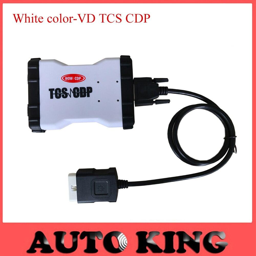 imágenes para Nueva vd tcs cdp pro blanco/AZUL color funciona en coches y camiones 3 in1 con nueva vci SIN BLUETOOTH versión-en El Envío gratis