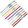 P00536 10 cores mais barato pu botão rivca botão snap bracelet fit 18mm braçadeira jóias botão de pressão