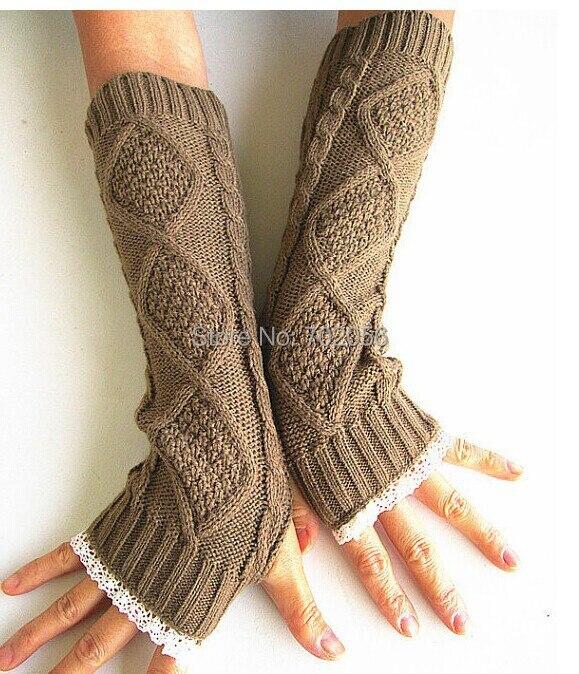 Bekleidung Zubehör Spitze Gestrickt Fingerlose Handschuhe Armstulpen Ballett Tanz Taste Handschuh Handgelenk Wärmer Handschuh Mode 3 Farben #3721 FüR Schnellen Versand Armstulpen