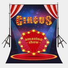 5x7ft Circus Poster Backdrop Amazing Show Stage Spotlight Flash Photography Background цена