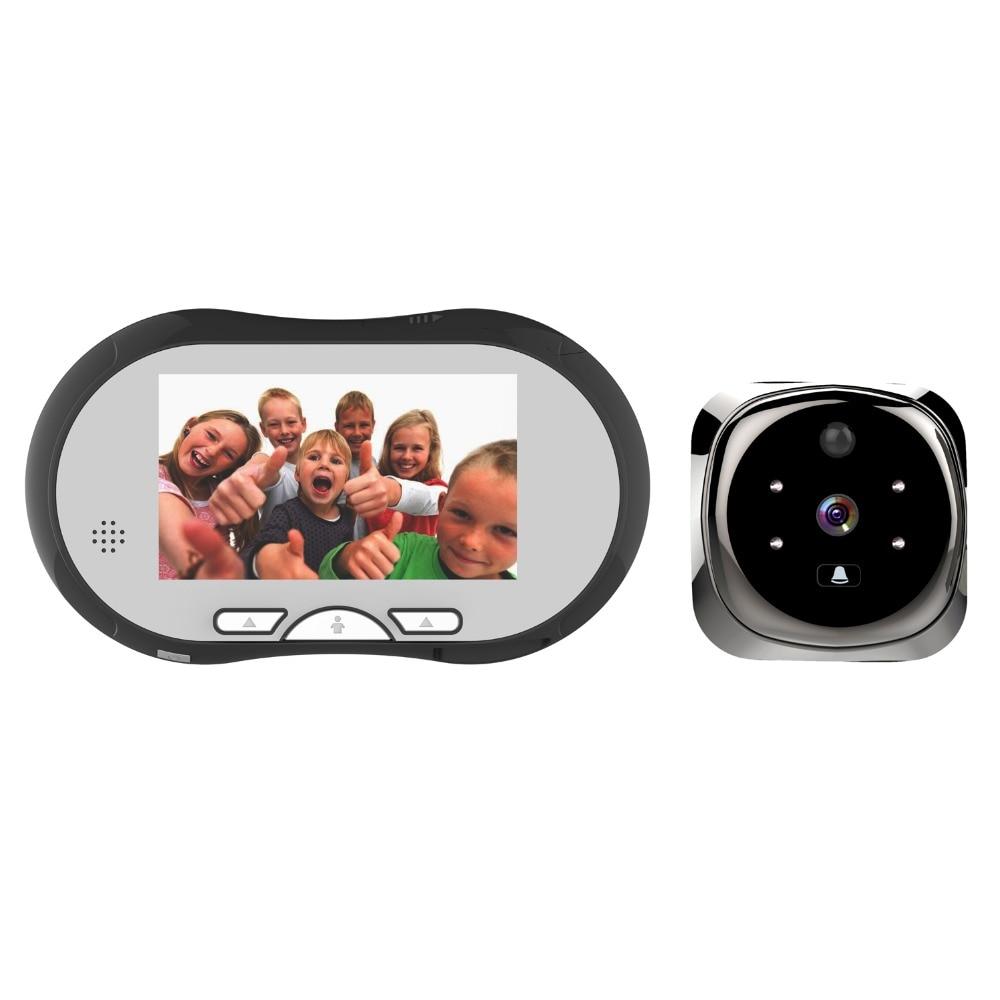 4.3 Pouce 3X Zoom Prendre Photo & Vidéo Judas Spectateur Détection de Mouvement Vidéo Porte Téléphone