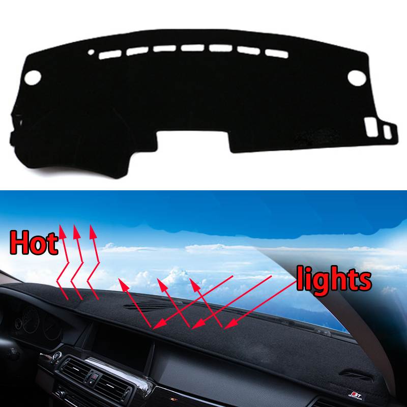 Car dashboard Avoid light pad Instrument platform desk cover Mats Carpets Auto accessories car styling for mazda 2 mazda 8 special car trunk mats for toyota all models corolla camry rav4 auris prius yalis avensis 2014 accessories car styling auto