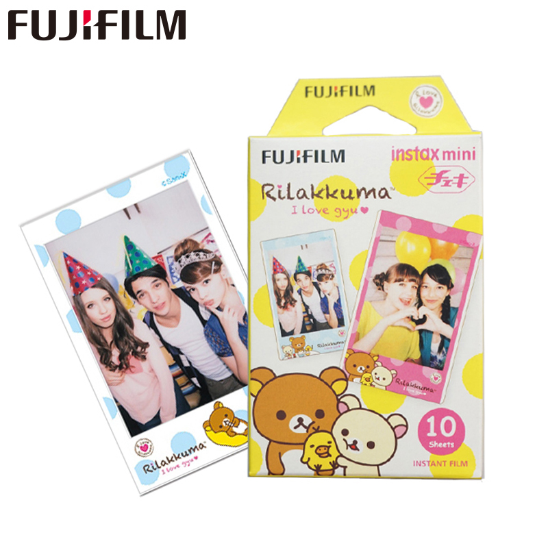 Galleria fotografica 10 Fujifilm Fuji Instax Mini Instant Color Film for Fuji 7 7s 8 10 20 25 50s 50i SP1 DW 90 (Rilakkuma)